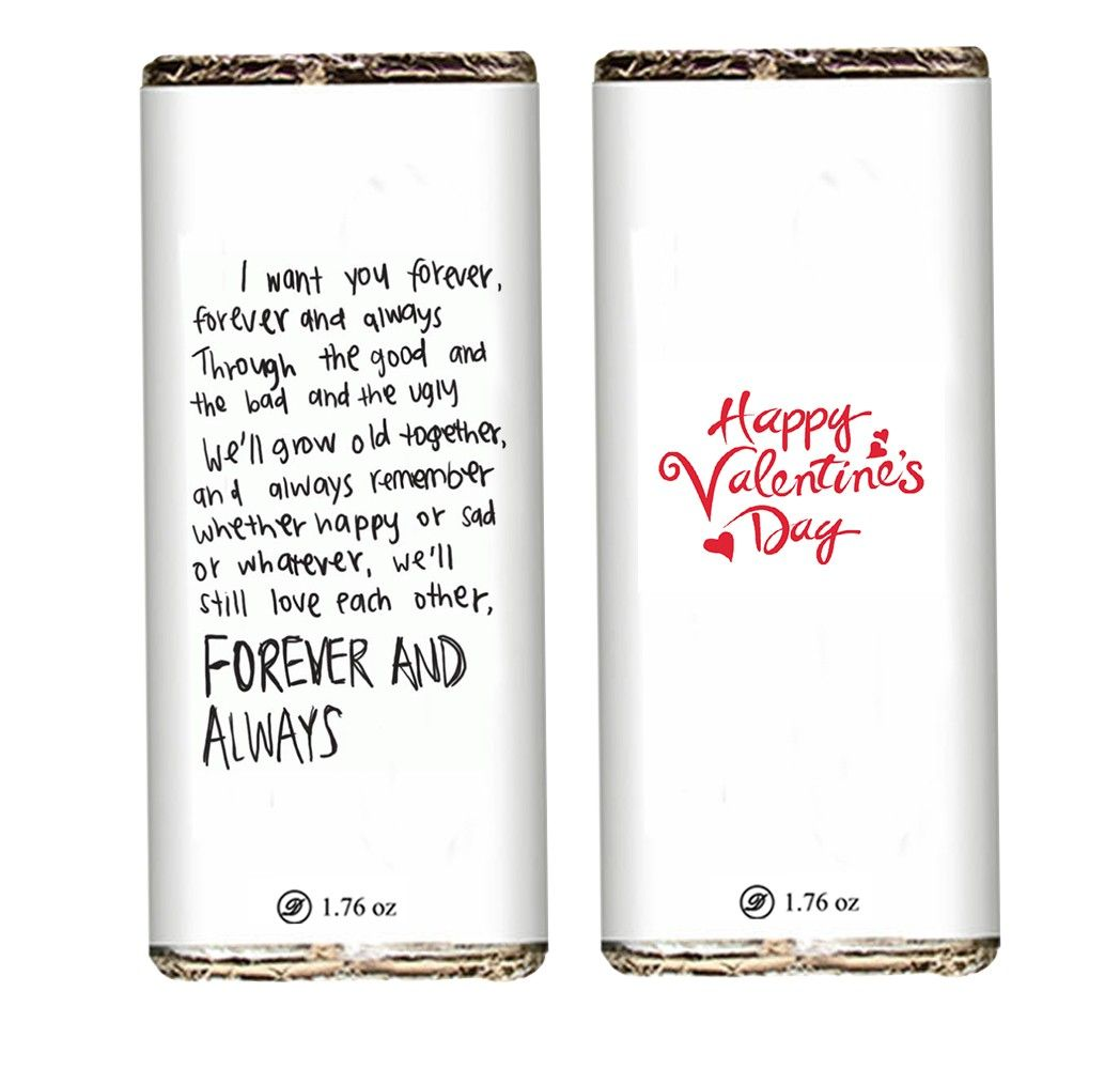 Love Forever Valentine Chocolate Bars