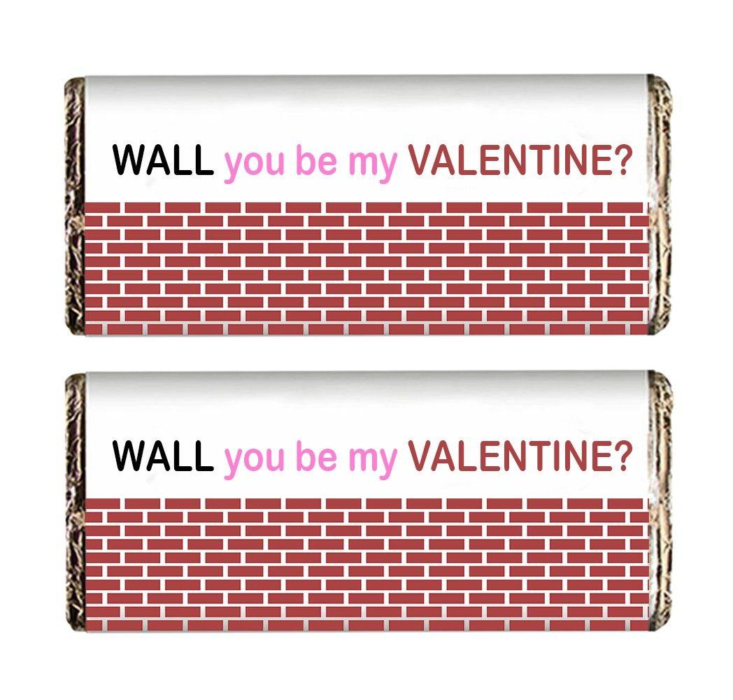Wall Valentine Chocolate Bars