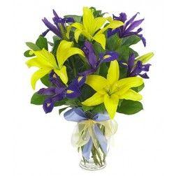 Lily and Iris Vase