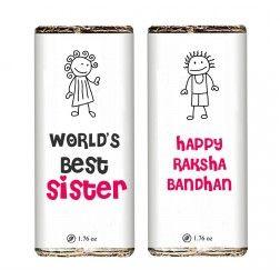 World's Best Sister Chocolate Bar