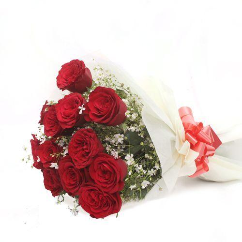 Dozen of Roses - In Tissue Wrap