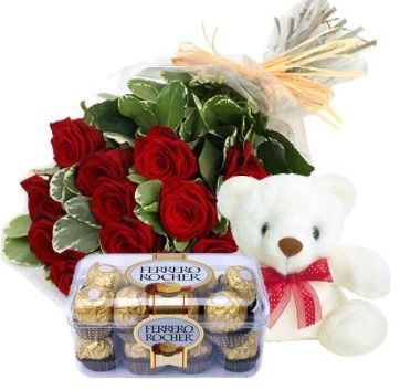 Roses & Ferrero Rochers With Teddy