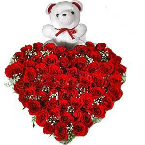 Red Rose Heart and Teddy