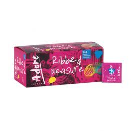 Pasante Adore Ribbed Pleasure condoms 144 pcs