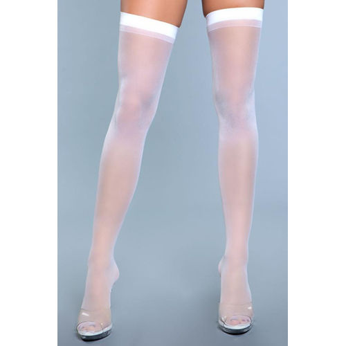 Be Wicked Best Behavior Thigh Highs - White