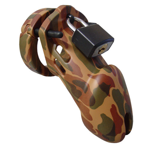 CB-X CB-6000 Chastity Cage - Camouflage - 35 mm