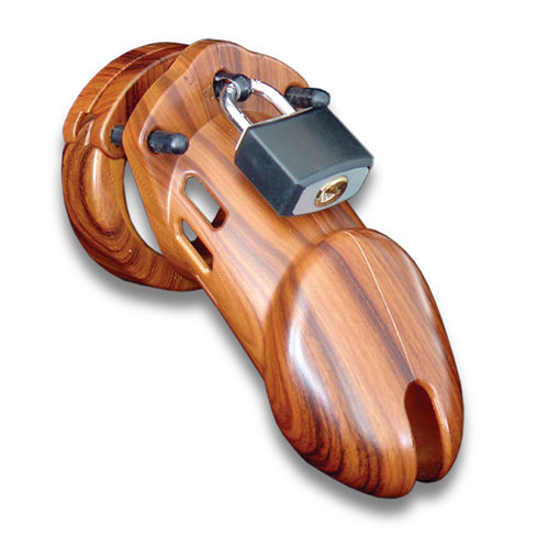 CB-X CB-6000 Chastity Cage - Wood - 35 mm