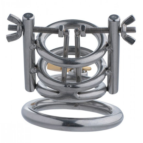 Master Series Deluxe Cleaver Urethral Spreader CBT Chastity Cage