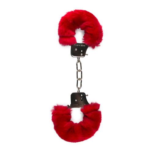 Easytoys Fetish Collection Furry Handcuffs - Red