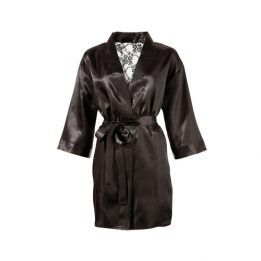 Cottelli Collection Kimono With Lace Back