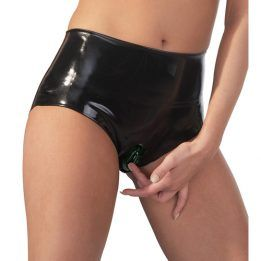 The Latex Collection Latex Briefs With Vagina Sleeve