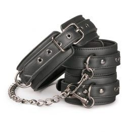Easytoys Fetish Collection Leather Collar With Anklecuff
