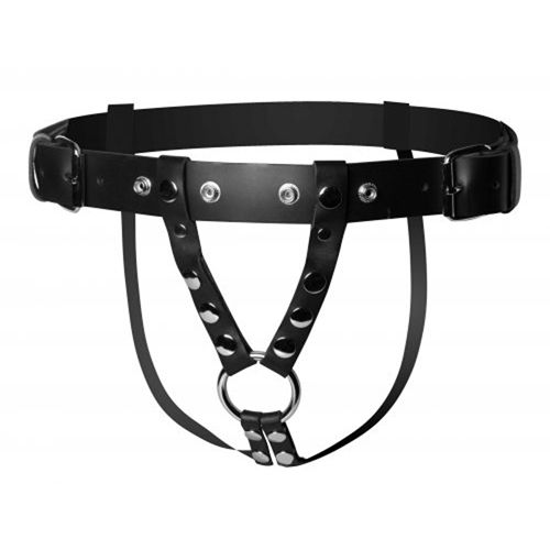 Strict Leather Leather dildo harness