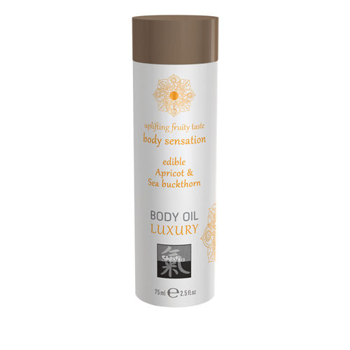 Shiatsu Luxury Body Oil Edible - Apricot & Sea Buckthorn