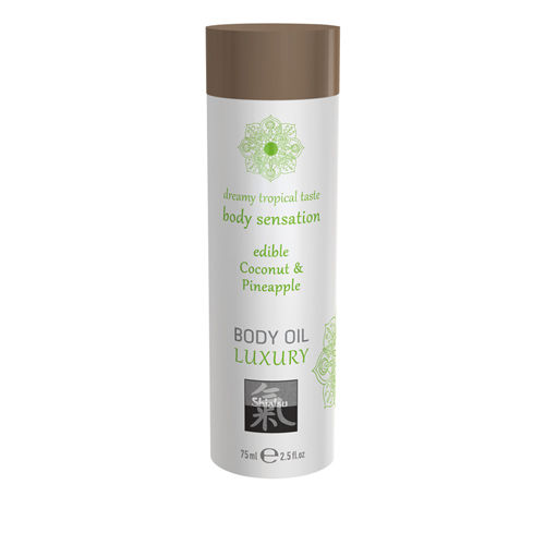 Shiatsu Luxury Body Oil Edible - Coconut & Pineapple