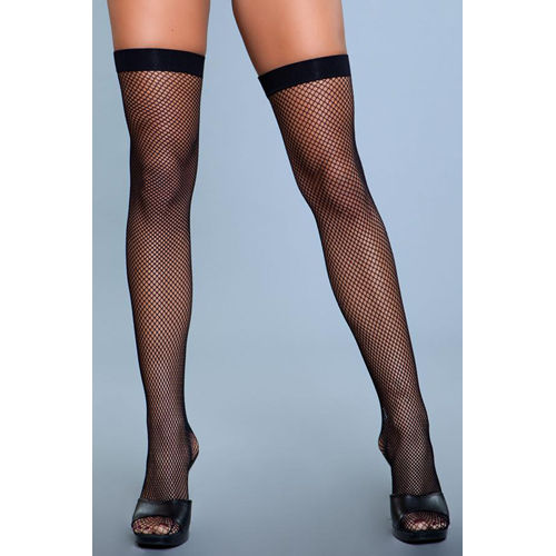 Be Wicked Nylon Fishnet Thigh Highs
