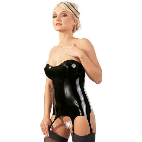 The Latex Collection Strapless Latex Garter Top