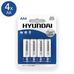 Hyundai Super Alkaline AA Batteries - 4 pcs