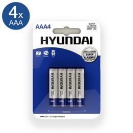 Hyundai Super Alkaline AAA Batteries - 4 pcs