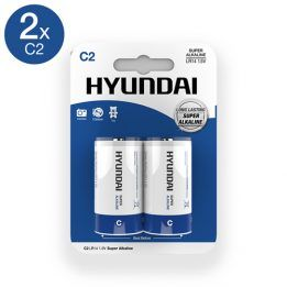 Hyundai Super Alkaline C Batteries - 2 pcs