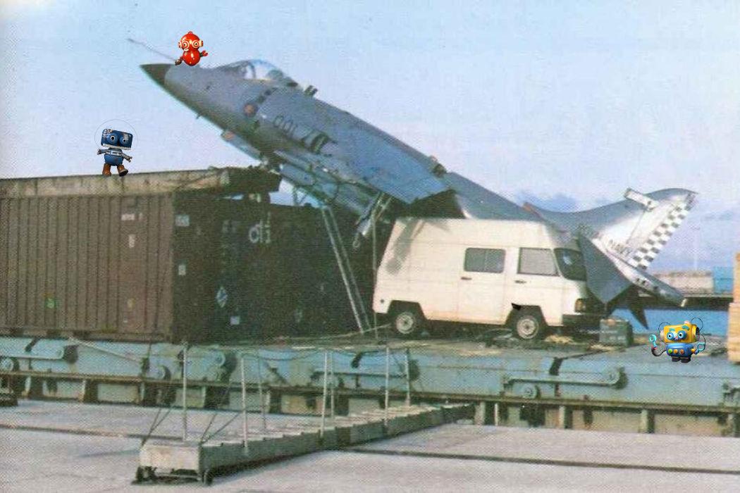 Le télescope et l'avion de chasse