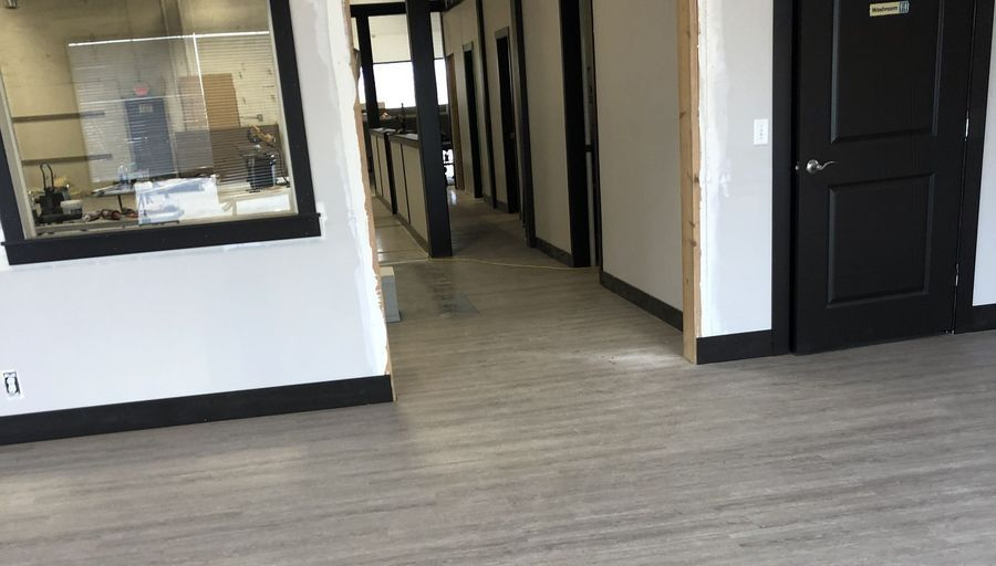 Luxury Vinyl Floor Installation in a Martial Arts Studio