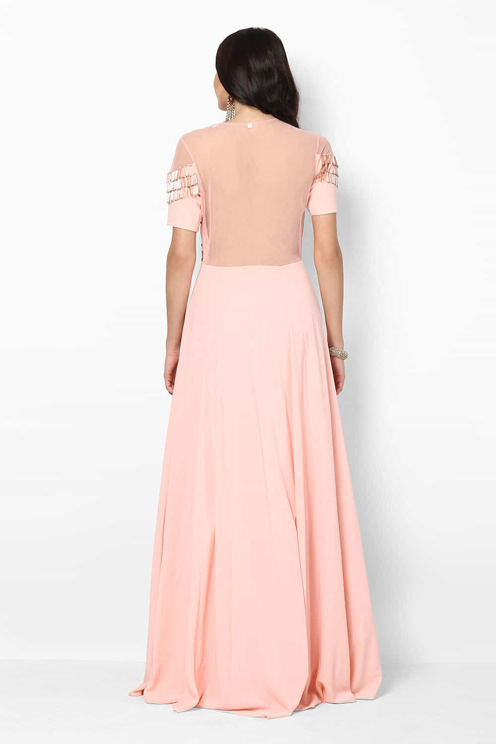 Rent AZRA - Peach Tassle Gown