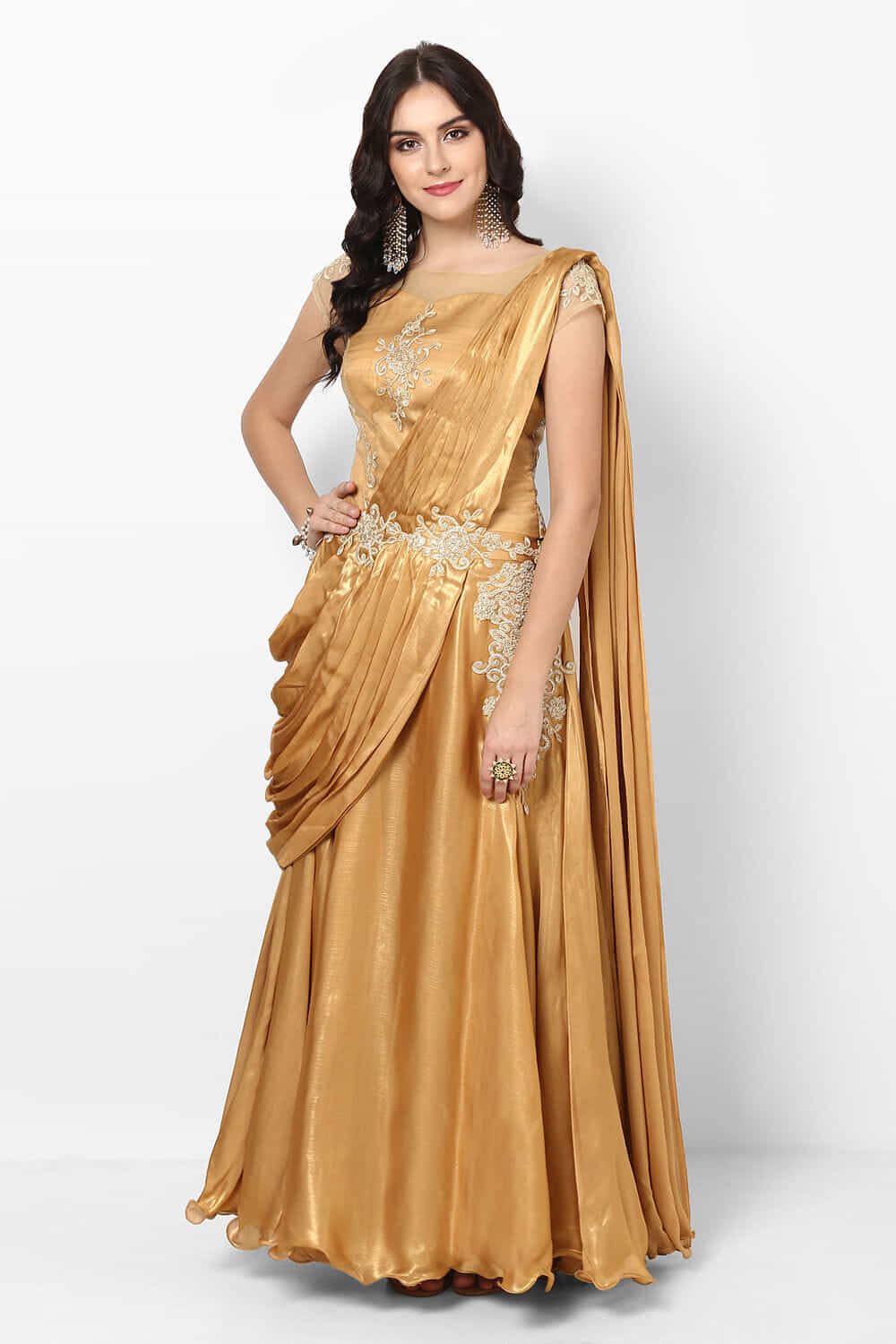 Rent Saree Gowns: Designer Women\'s Saree Gowns Online Collection in ...