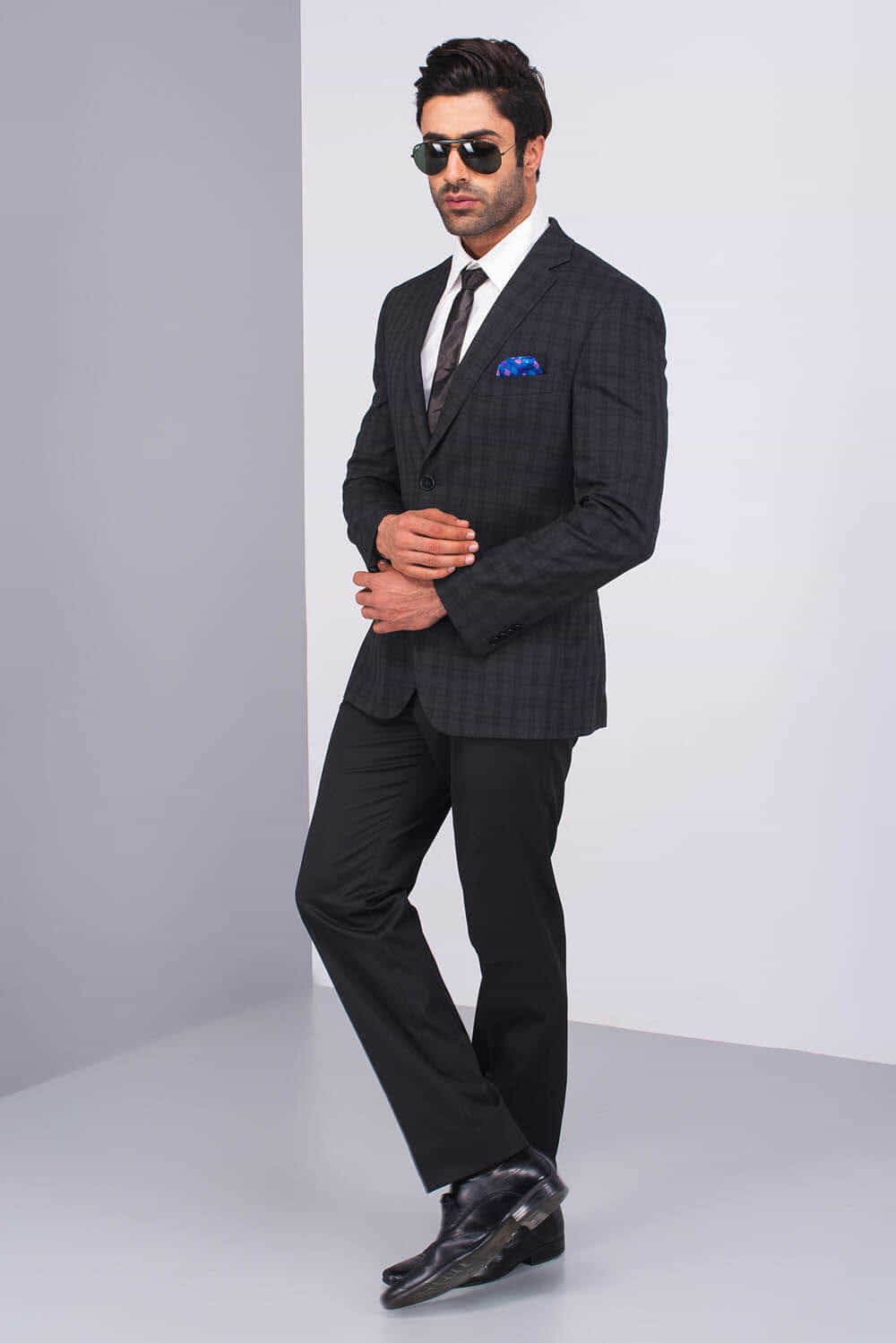 Rent The Bostonluxe Black Formal Plaid Two Piece Suit
