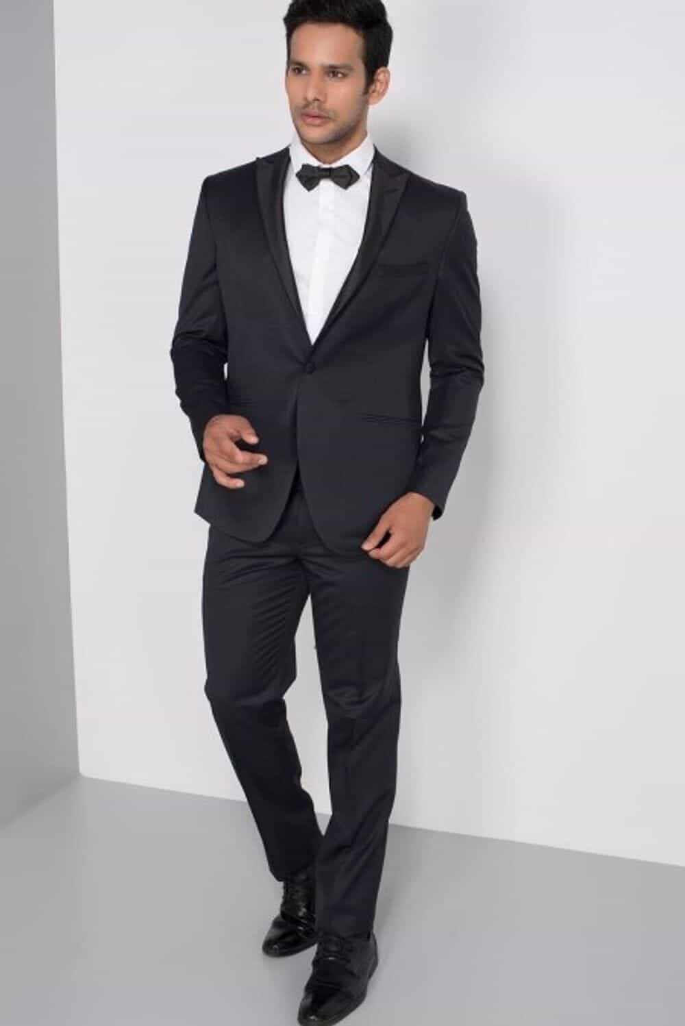Wedding Dress Suits And Tuxedos Raymond Black Formal Tuxedo Suit With Trouser At Flyrobe