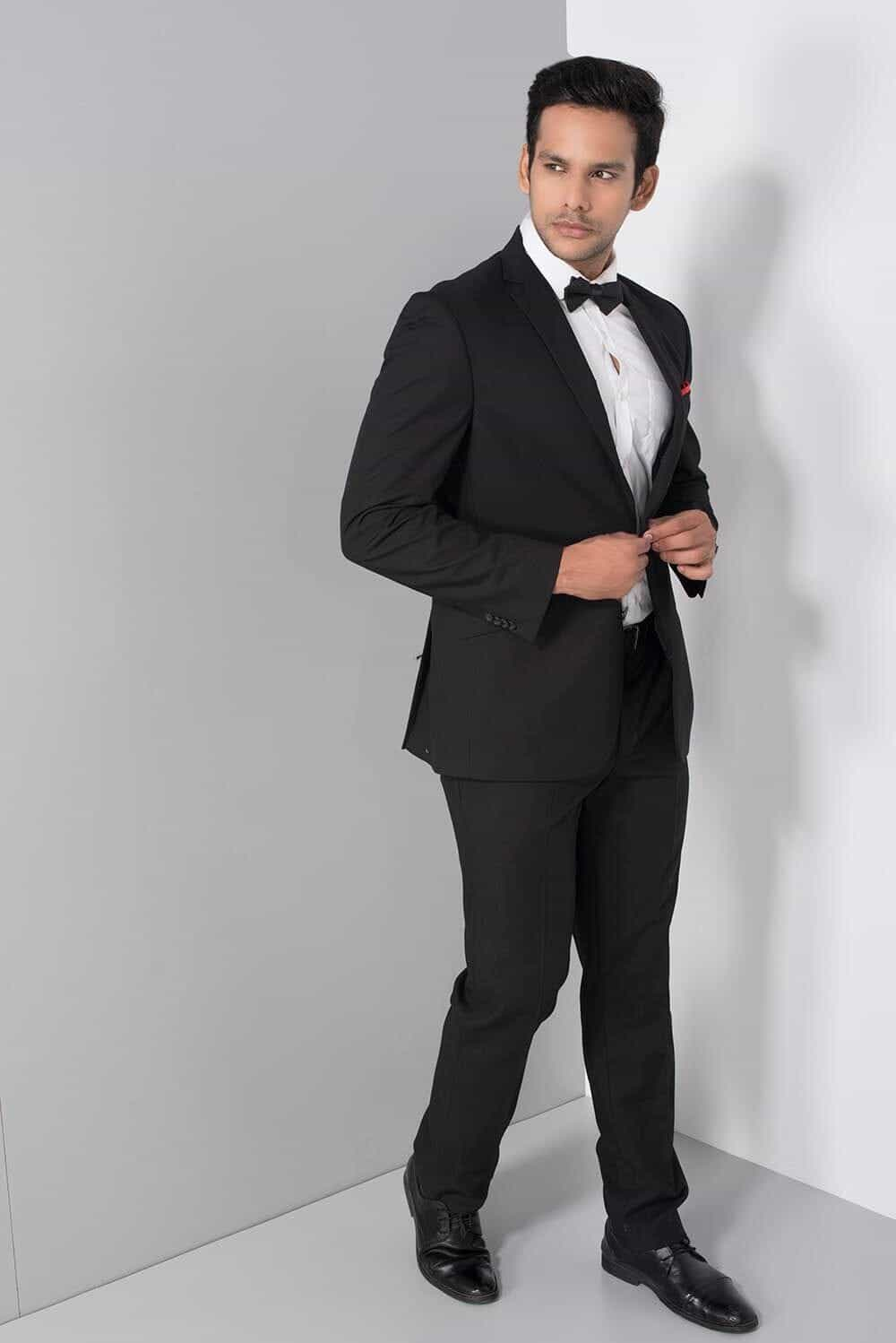 Rent Raymond - Black Formal Two-Piece Suit
