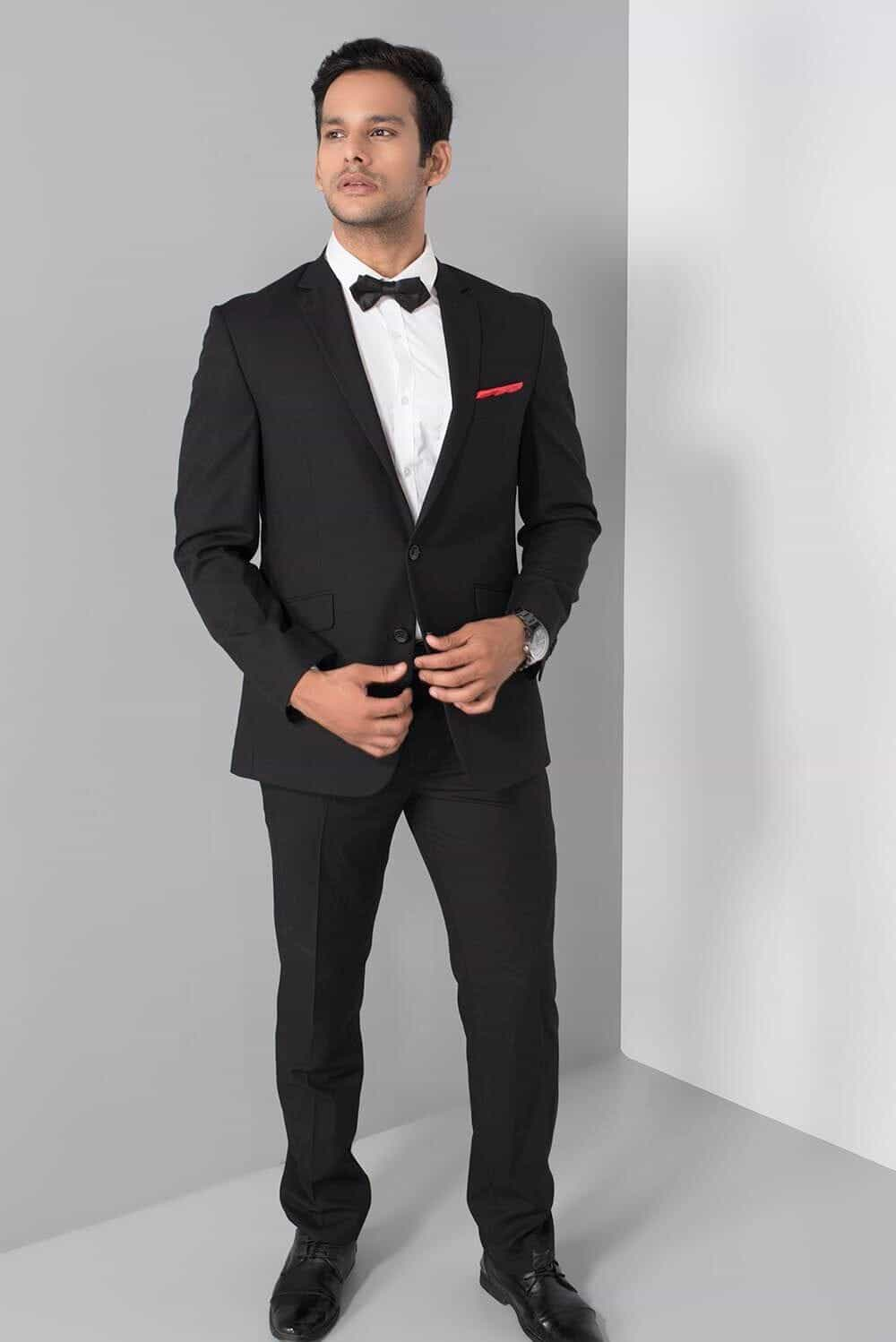 Wedding Dress Suits And Tuxedos Raymond Black Two Piece Evening Suit At Flyrobe