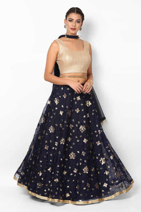 2e84f12c28 Navy Blue Lehenga for Womens - Rent Latest Designer Navy Blue ...