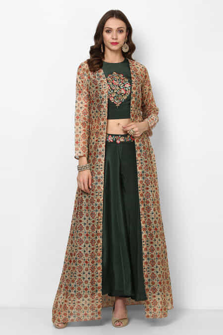 8ada9f9abc4 zayah-green-embroidered-crop-top-with-palazzo-jacket