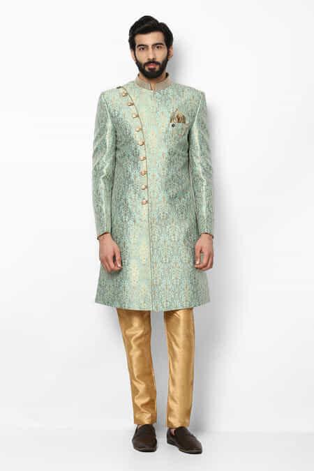 0f7107af611 ekaksh-mint-green-indo-western-brocade-sherwani-with-