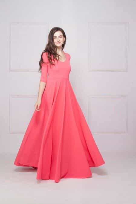 Cerise Uk Pink Flare Gown
