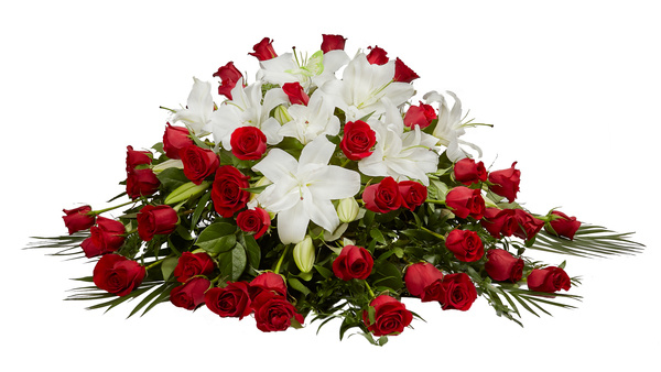 Lily And Rose Casket Spray