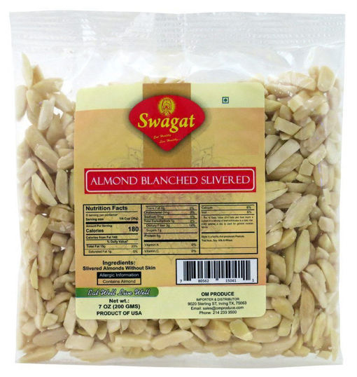SWAGAT ALMOND BLANCHED SLICED