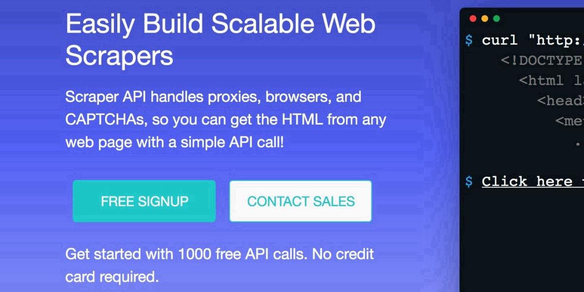 Scraper API - Proxy API for Web Scraping