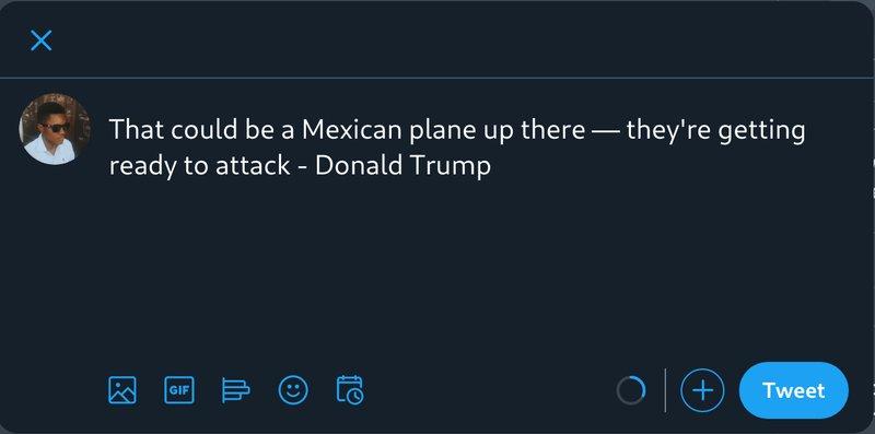Tweet a Donald Trump quote