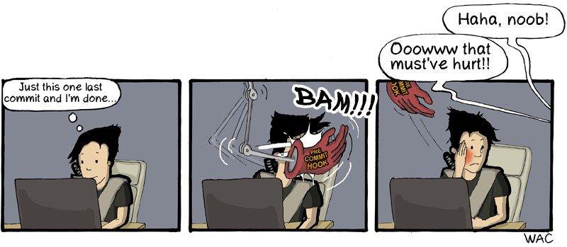 Pre-commit comic strip