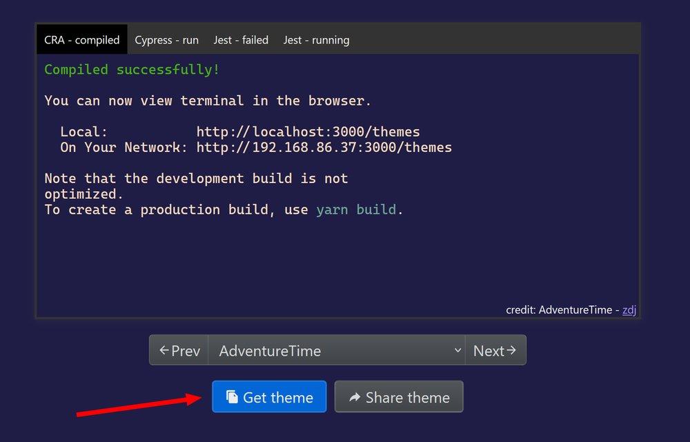 Windows Terminal Themes website