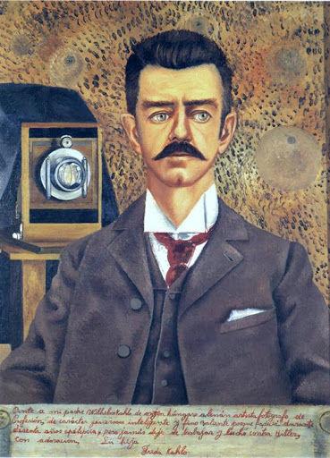Mais de dez anos depois de sua morte, Frida decidiu pintar Guillermo Kahlo no quadro que se chamaria Retrato de meu pai Wilhelm Kahlo, 1952
