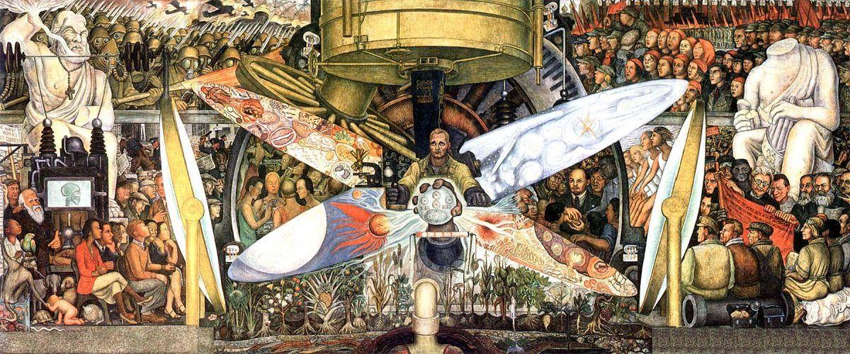 Nos murais de Diego Rivera, estavam sempre presentes as causas socialistas e ele sempre reafirmava seu caráter de artista comprometido politicamente