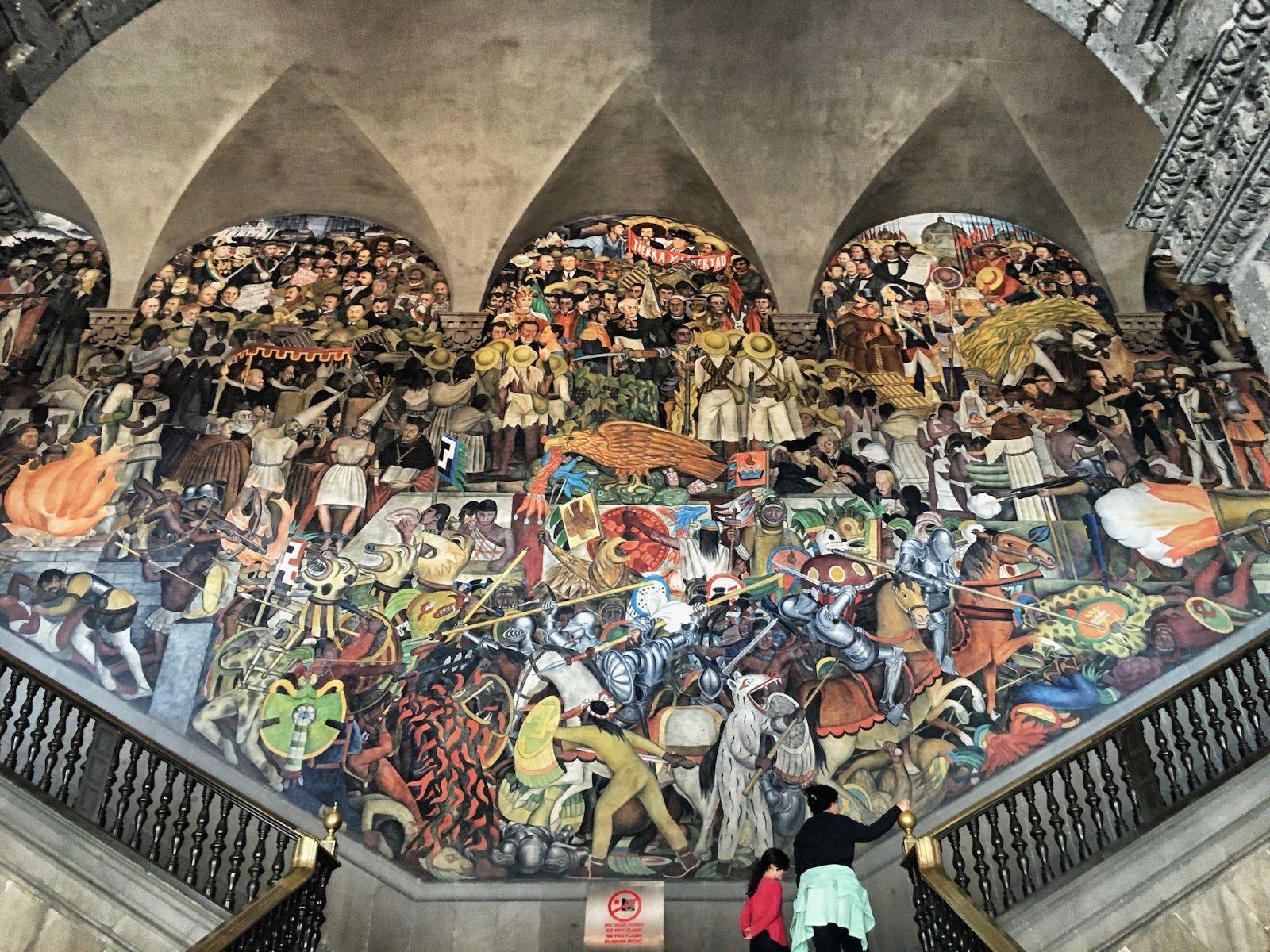 O muralismo de Rivera influenciou muitos artistas norte-americanos ao expor o seu trabalho em grandes murais nas cidades de São Francisco, Detroit e Nova Iorque.