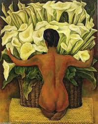 Diego Rivera homenageou Frida em sua obra entitulada Nudez com Lírios de Calla
