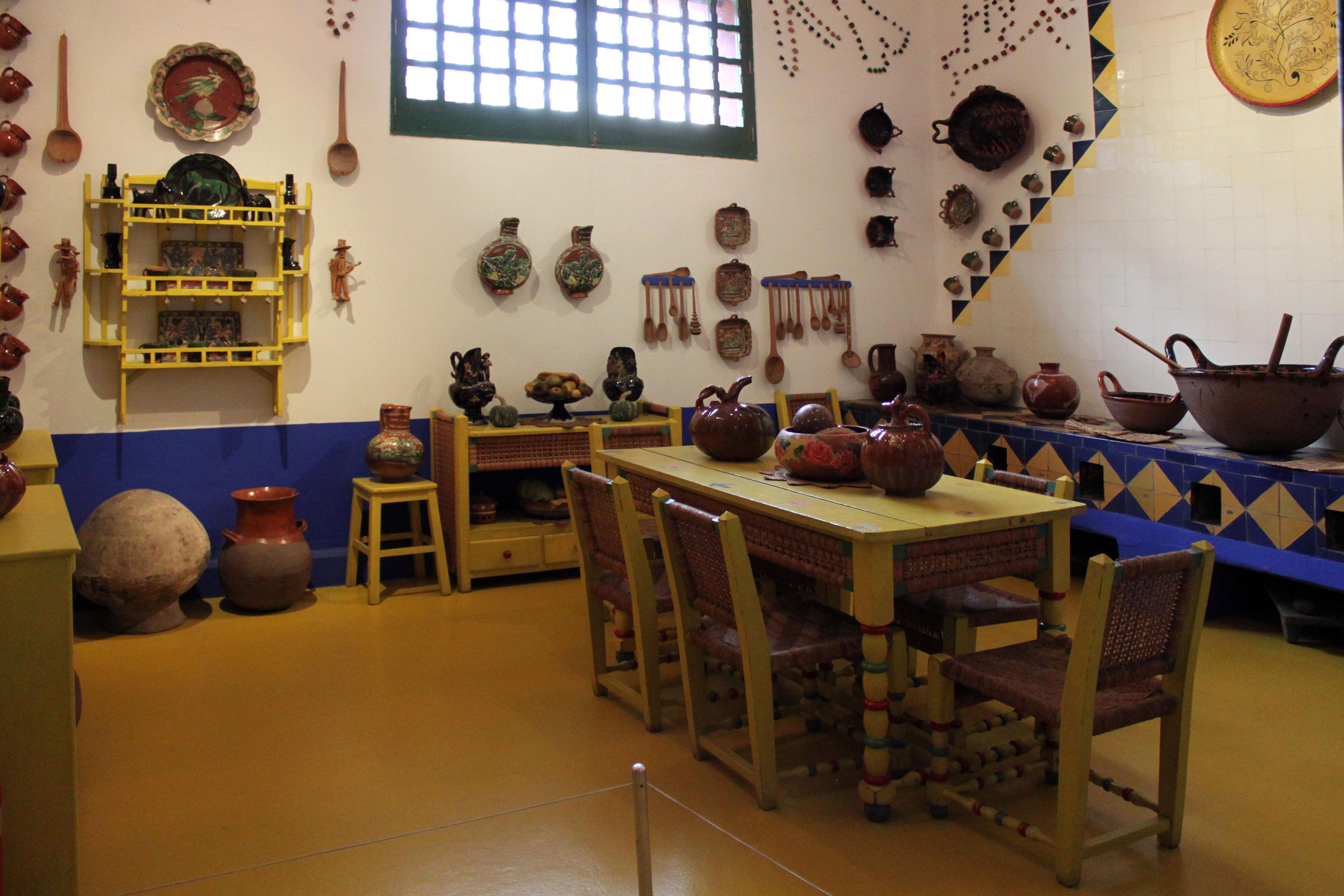 Interior da Casa Azul, o museu da Frida Kahlo.