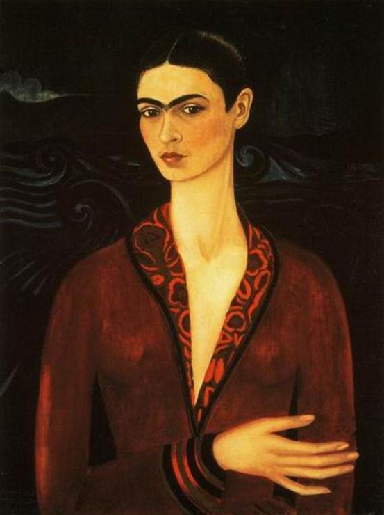 O Autorretrato com Vestido de Veludo foi o primeiro quadro pintado por Frida Kahlo.