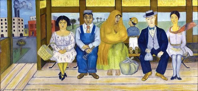 O Ônibus foi pintado no ano de 1929 e representa o trágico acidente que Frida sofreu em 1925.