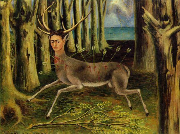 O quadro de Frida Kahlo O Veado Ferido foi pintado em 1946.